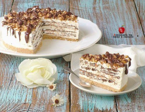 Torta semifreddo millefoglie di cioccolato