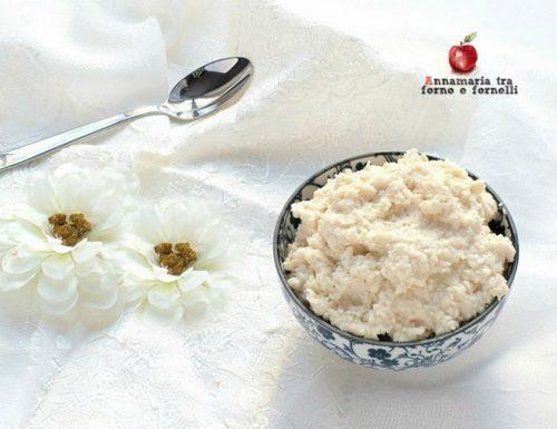 Crema fredda al cocco e mandorle