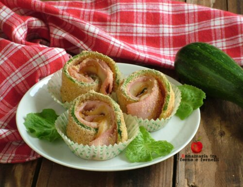 Rotolini di zucchine con panatura al forno