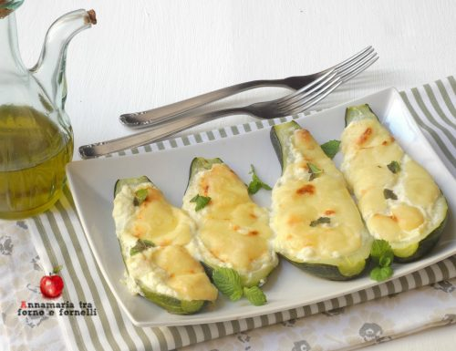 Zucchine farcite con formaggi