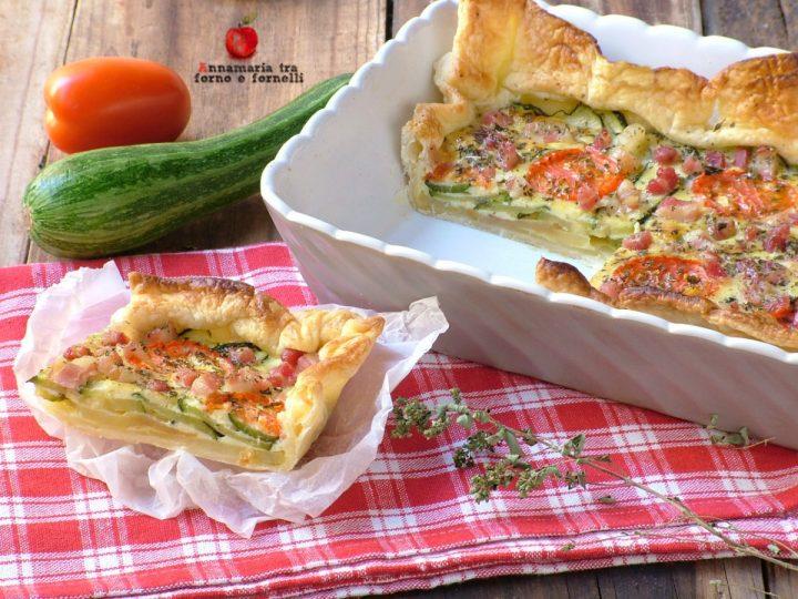 torta salata zucchine patate e pomodori