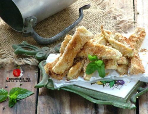 Zucchine al forno con panatura al formaggio