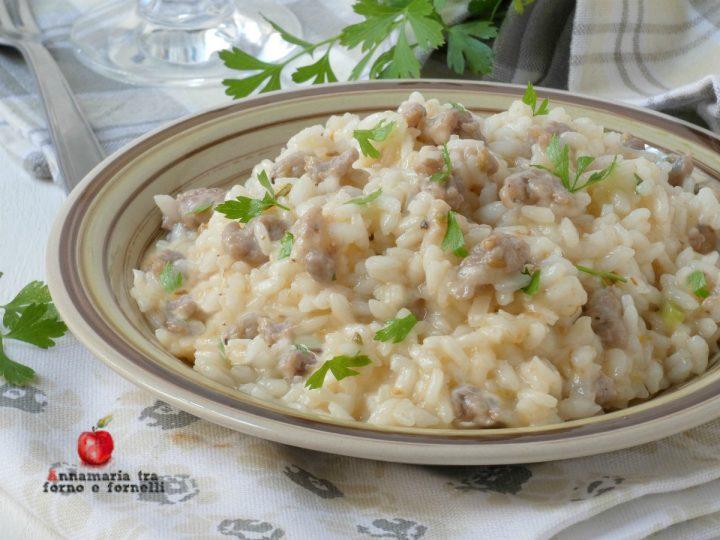 Risotto salsiccia e parmigiano