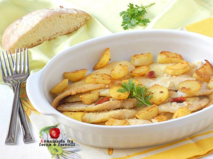 filetti di merluzzo al vino bianco e patate