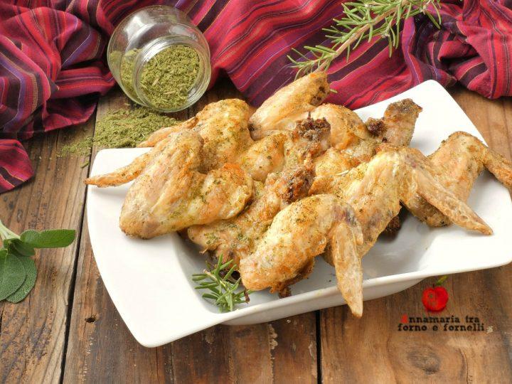 ali di pollo dorate agli aromi