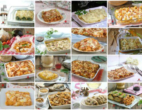 Raccolta di pasta al forno