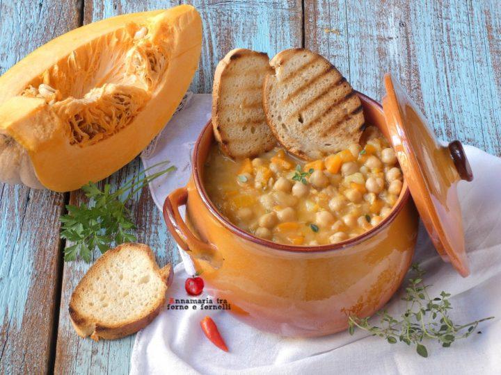 Zuppa di ceci zucca e patate
