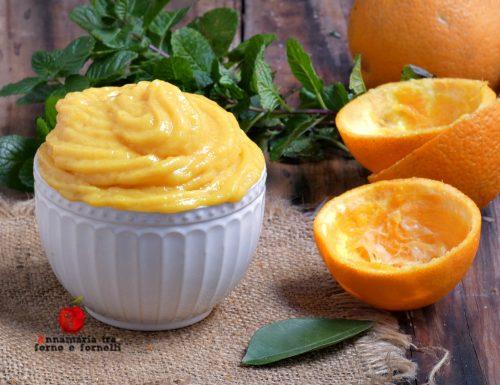Crema con succo di arancia