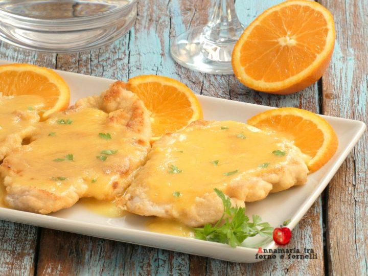 petto di pollo con crema all'arancia