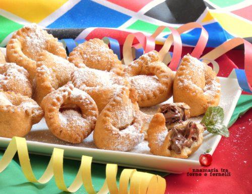 Tortelli di Carnevale con nutella