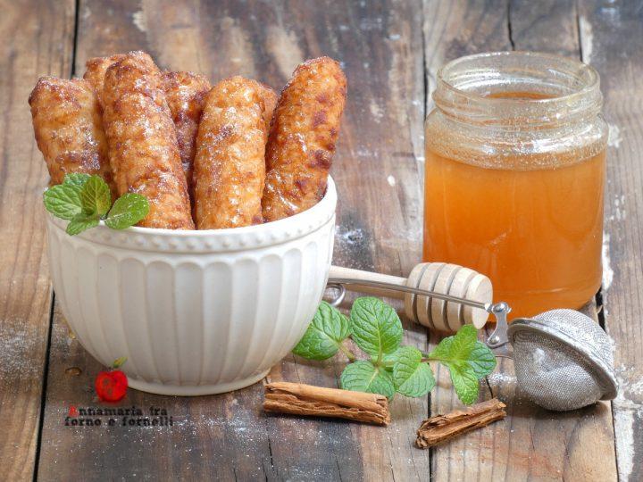 crispelle di riso al profumo di arancia e cannella