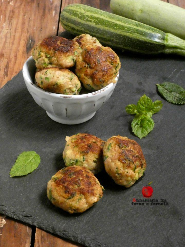 vpolpette di carne zucchine e patate