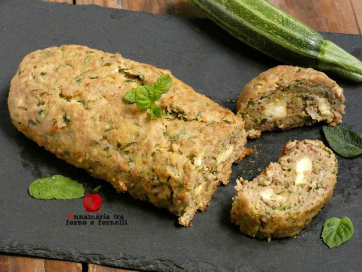 polpettone di carne e zucchine farcito