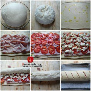iPiccy-collage procedimento rotolo con mortadella e pomodoro