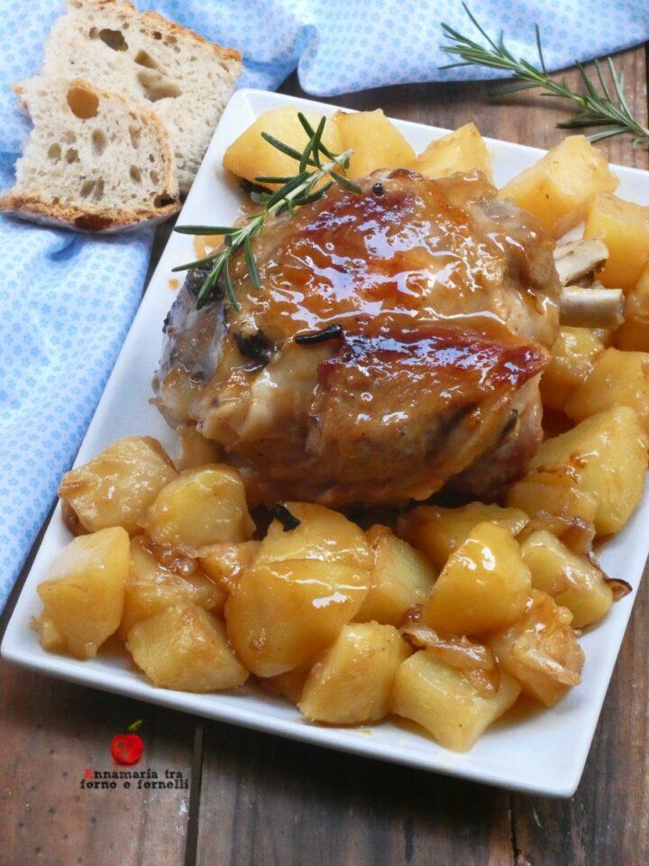 vstinco con patate e cipolle glassate