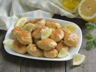polpette di pollo alla crema di limone