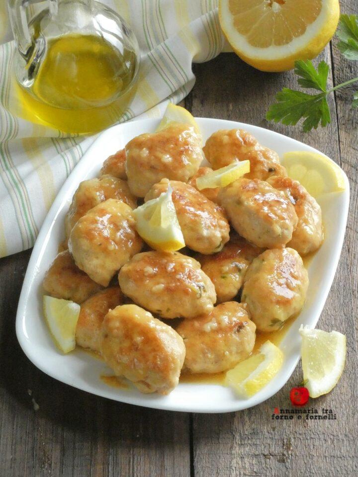 vpolpette di pollo alla crema di limone