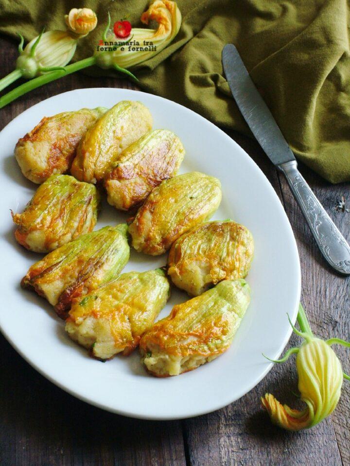 vfiori di zucca con ripieno di patate