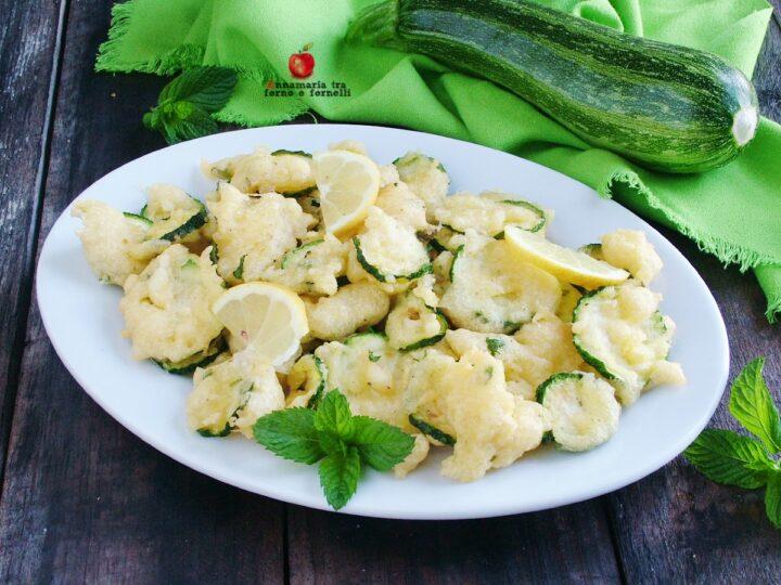 Zucchine in pastella al limone