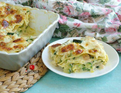 Lasagne con zucchine e gamberetti