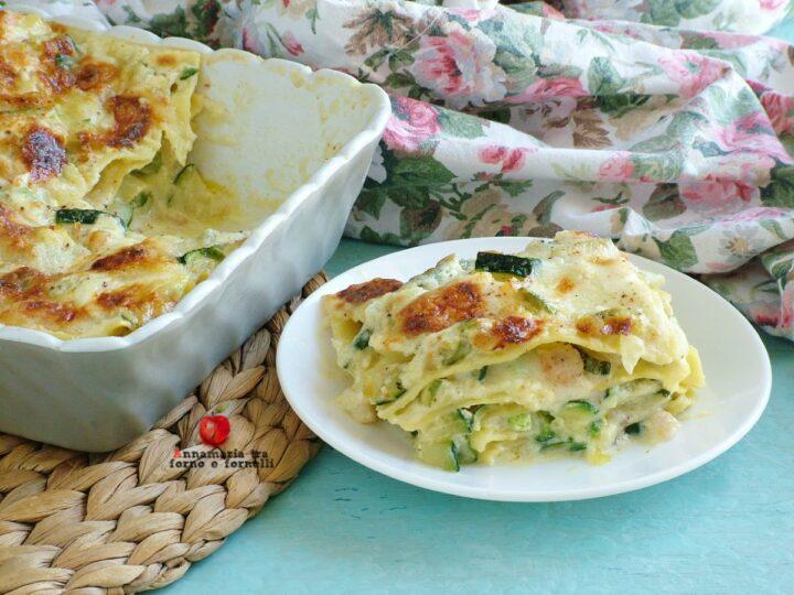 lasagne con zucchine gamberetti