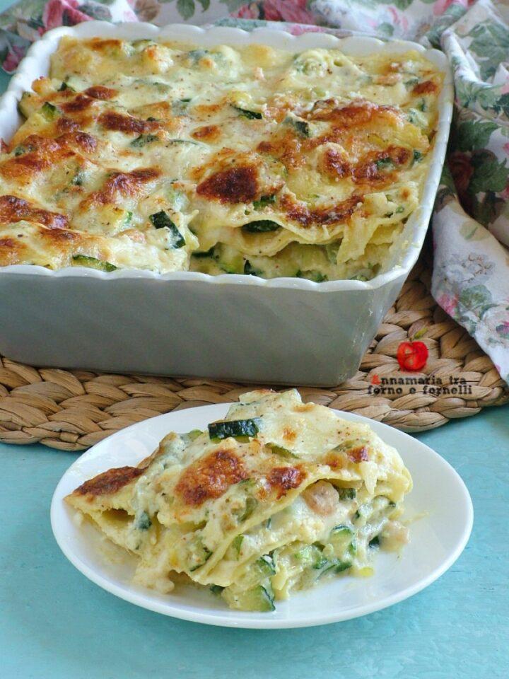 vlasagne con zucchine e gamberetti