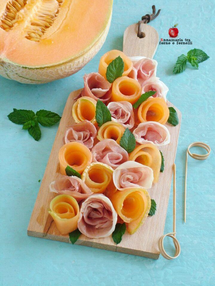 vrose di prosciutto e melone