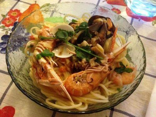 Spaghetti allo scoglio (in bianco)
