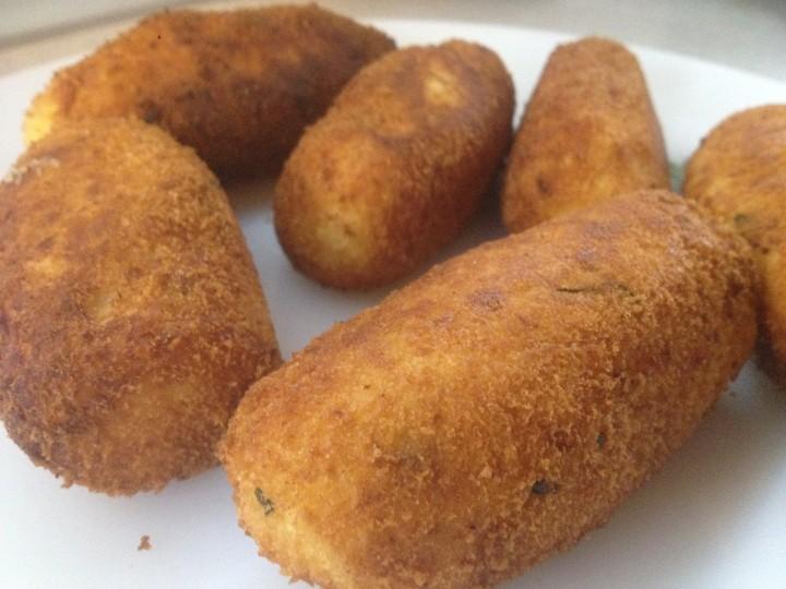 polpettine fritte e crocche' di patate
