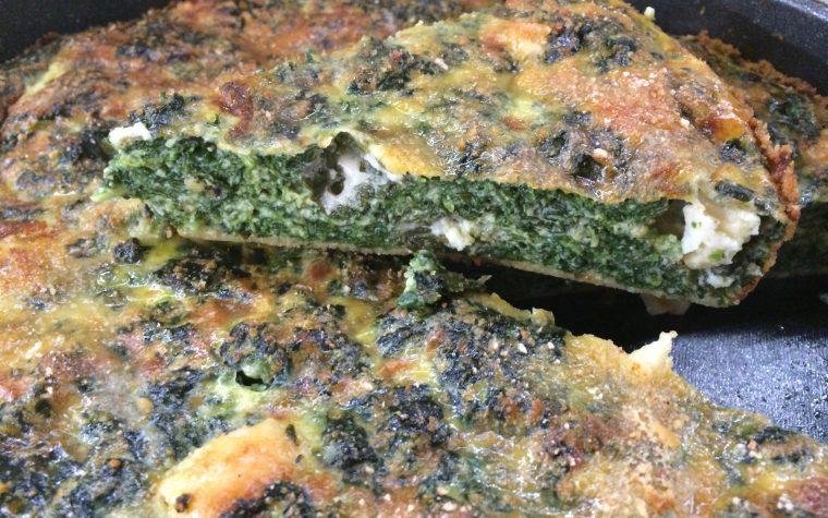 Frittata al forno con spinaci e provolone
