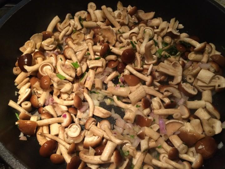 Risotto con funghi pioppini