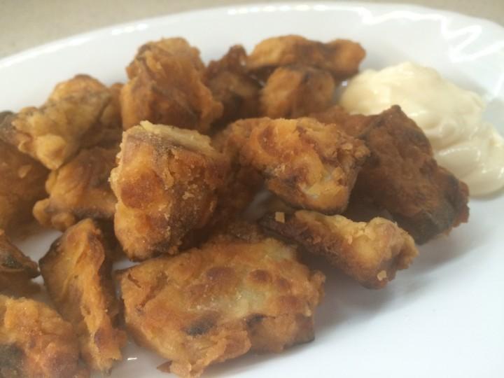 Nuggets di topinambur fritti