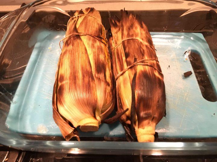 pannocchie grigliate su BBQ