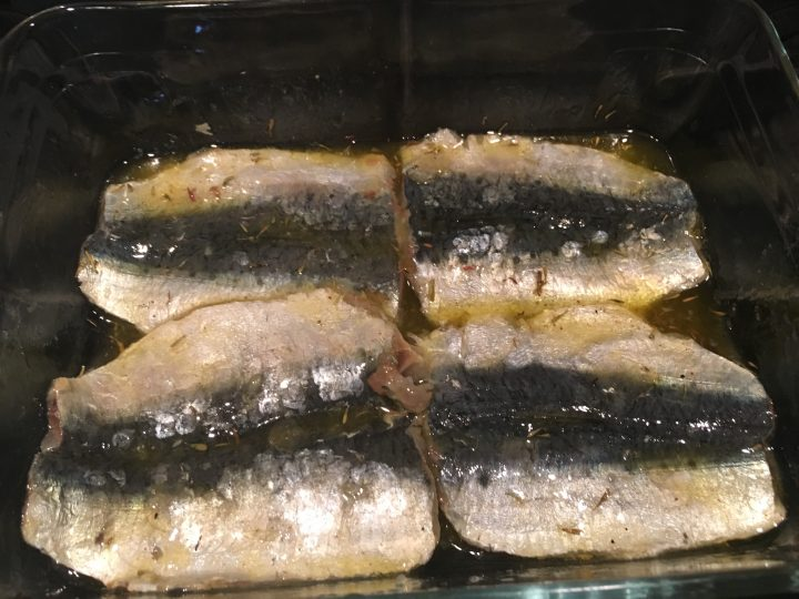 Filetti di sardine allo zenzero e lime
