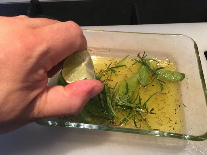Salsicce al lime su BBQ