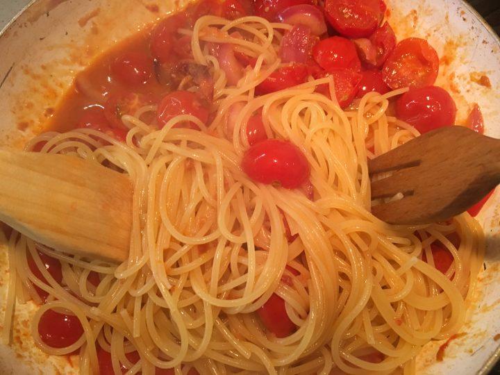 Spaghetti pomodorini e 'nduja