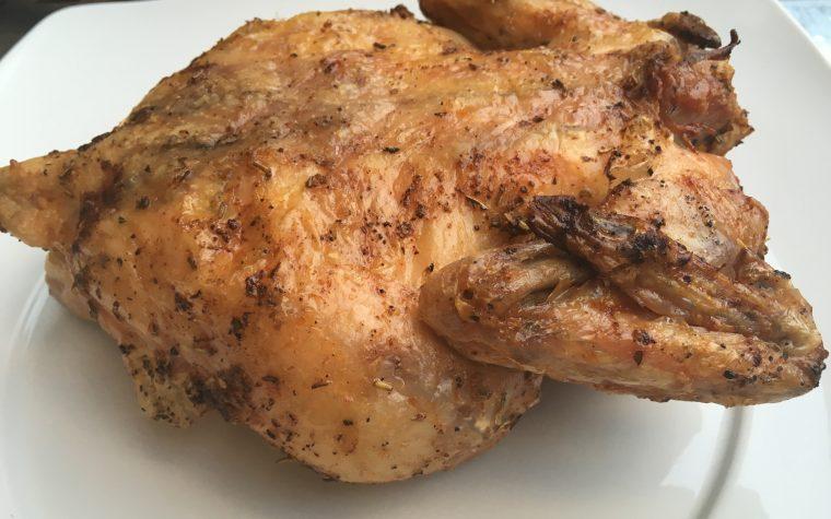 (Italiano) Pollo su bbq al burro e aromi