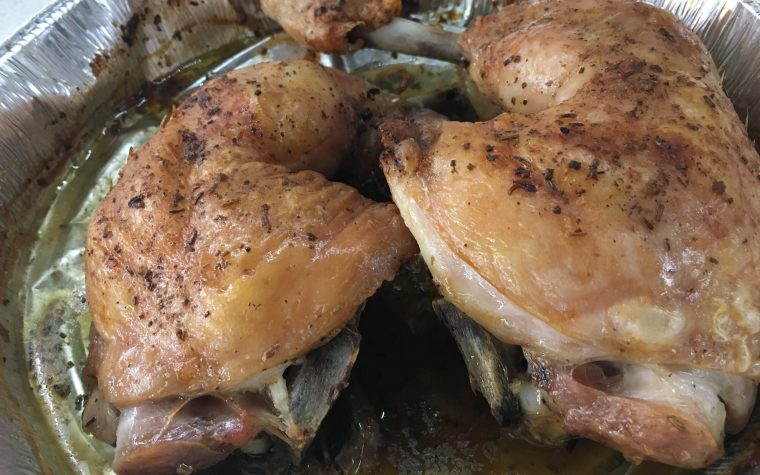 (Italiano) Sovracosce di pollo in forno alle erbe aromatiche