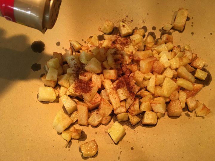 Frittata di patatine alla paprika affumicata e zenzero