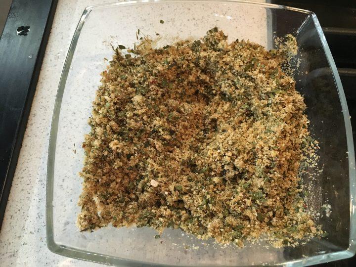 Verdesca al forno gratinata con erbe aromatiche e aceto di mele