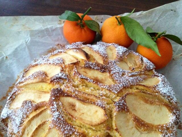 Torta ai mandarini e mele senza glutine