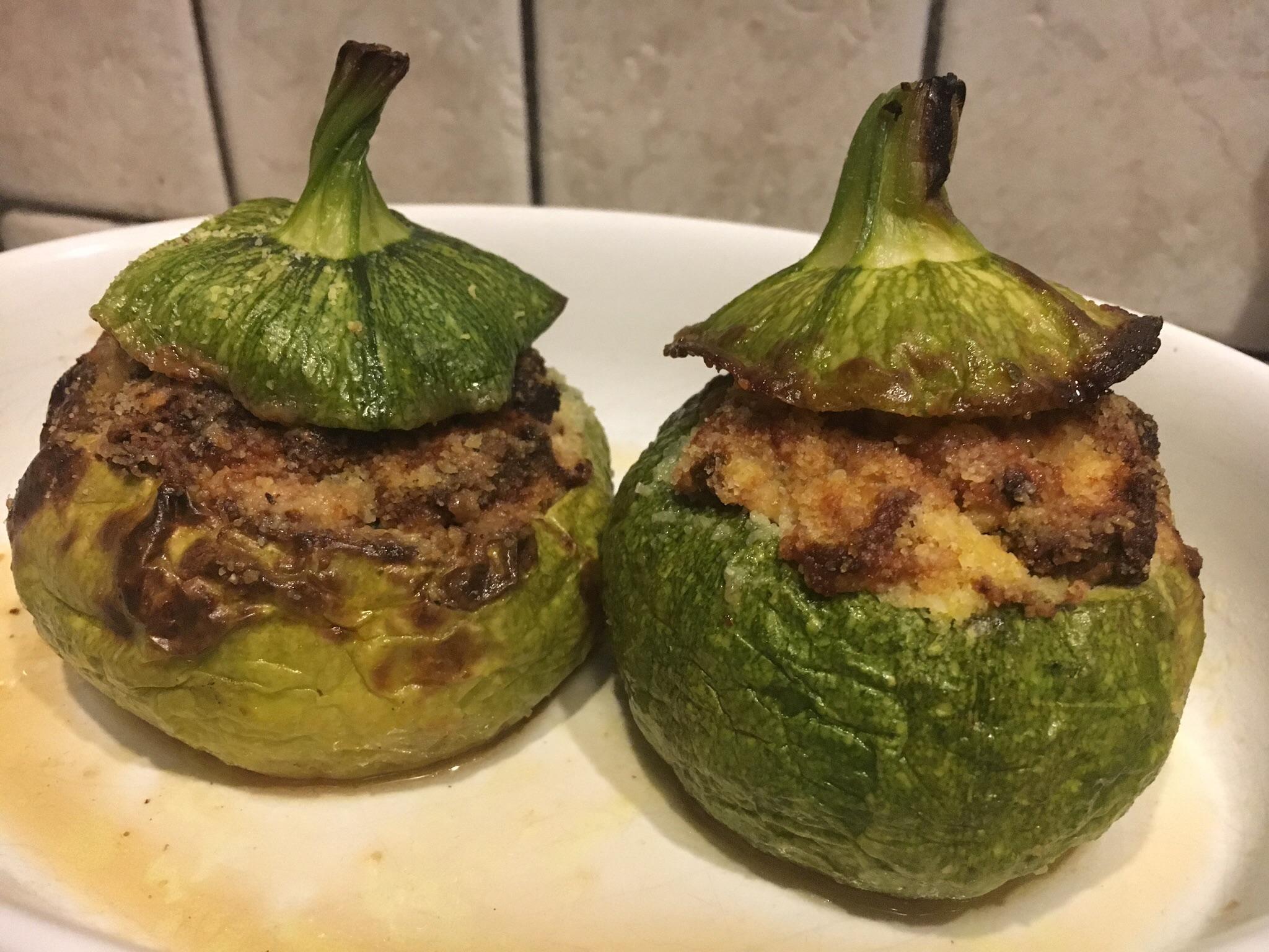 Zucchine tonde ripiene senza glutine