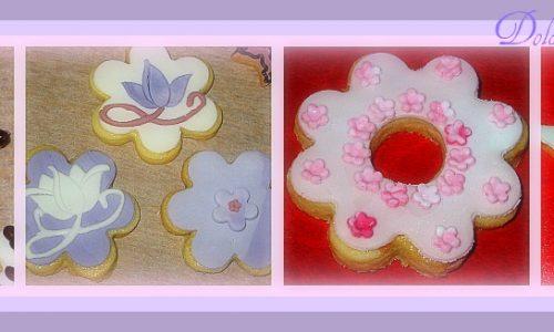 Biscotti decorati con PDZ e cioccolato fondente