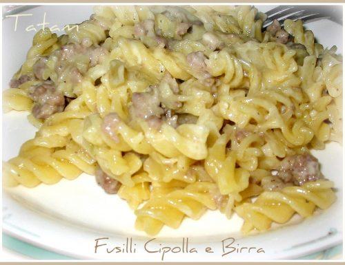 Fusilli Cipolla e Birra | ricetta gustosa