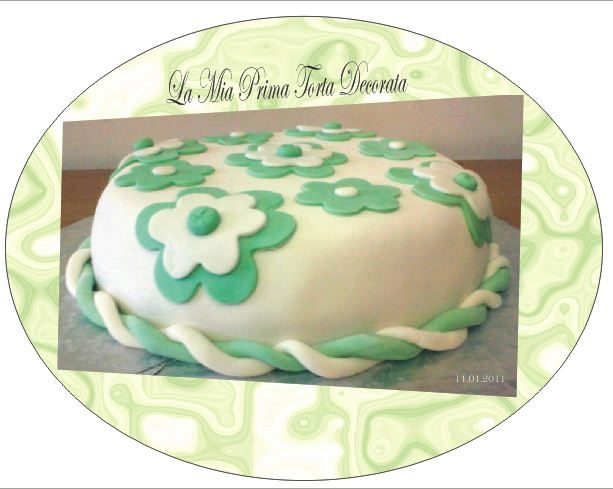 Torta Fiori pdz (Pasta Di Zucchero) – torta decorata