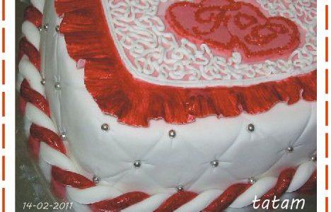 Torta San Valentino 2011 | pasta di zucchero