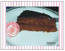 Torta Sacher con calle e rose in pdz