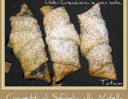 Cornetti di Pasta Sfoglia con Nutella |ricetta golosa