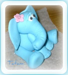 Elefante Blu in pasta di zucchero