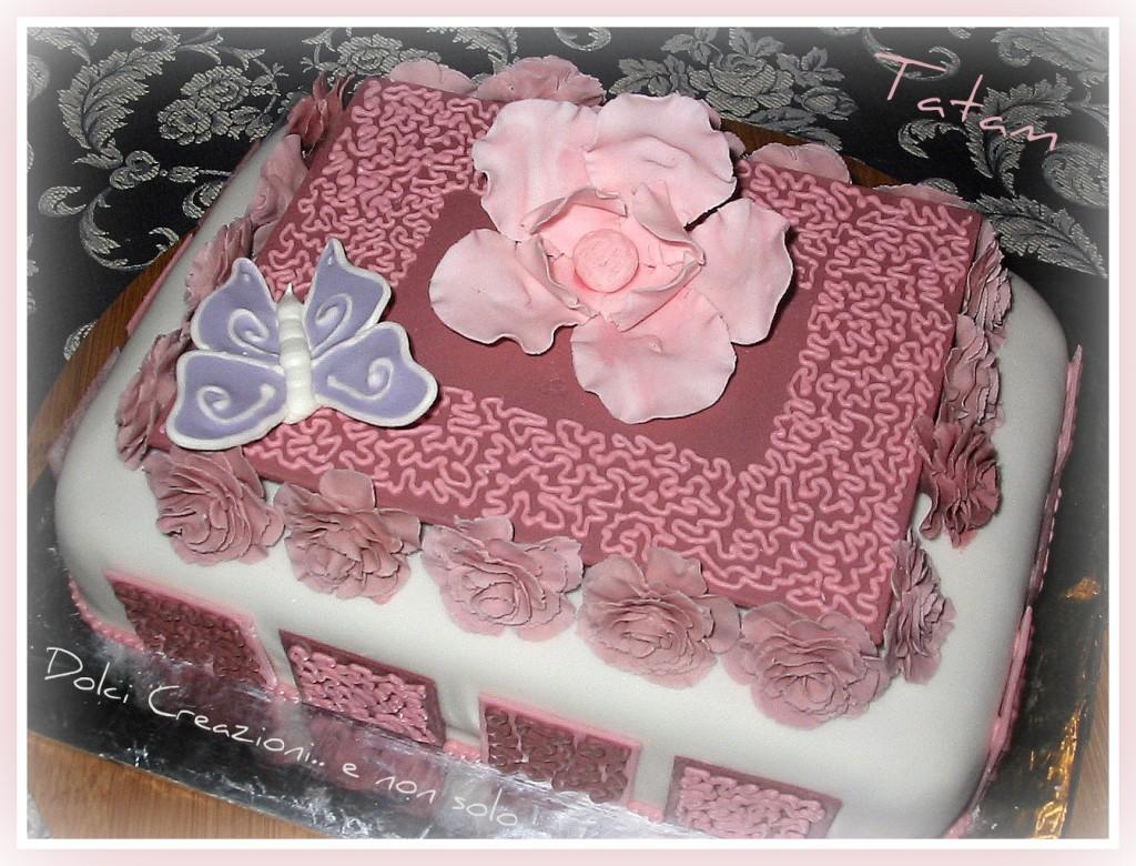 Torta decorata micaela pasta di zucchero - Decorazioni per torte di carnevale ...